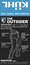 The Outsider hangtag by KÜHL