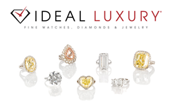 Examples of large and rare GIA certified diamonds available for purchase at Ideal Luxury.