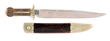 Early Forged-Bolster Dogbone Bowie Knife made for Wolfe & Clarks, NY, estimated at $15,000-18,000.