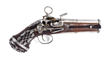Scarce Spanish Double Barrel Superposed Ripoll Miquelet Pistol, estimated at $10,000-15,000.