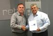 Retail Pro International CEO Kerry Lemos (left) and PA Latinoamericana CEO Allan Pires (right)