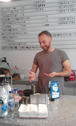 Brandon Bir, Coffee Sourcing and Education Director for Crimson Cup Coffee & Tea