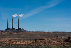 Navajo Generating Station in the southwest desert near Lake Powell