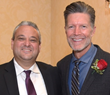 """Anthony Ciarletta, sponsor, Grassy Sprain Pharmacy, with Stone Phillips, special guest speaker, at HOW's 16th Annual """"In Celebration Gala Cocktail Reception""""."""