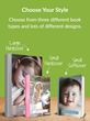 Choose from 3 book sizes