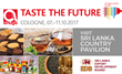 Sri Lanka Country Pavilion at Anuga International Food Fair from October 7-11 in Cologne, Germany