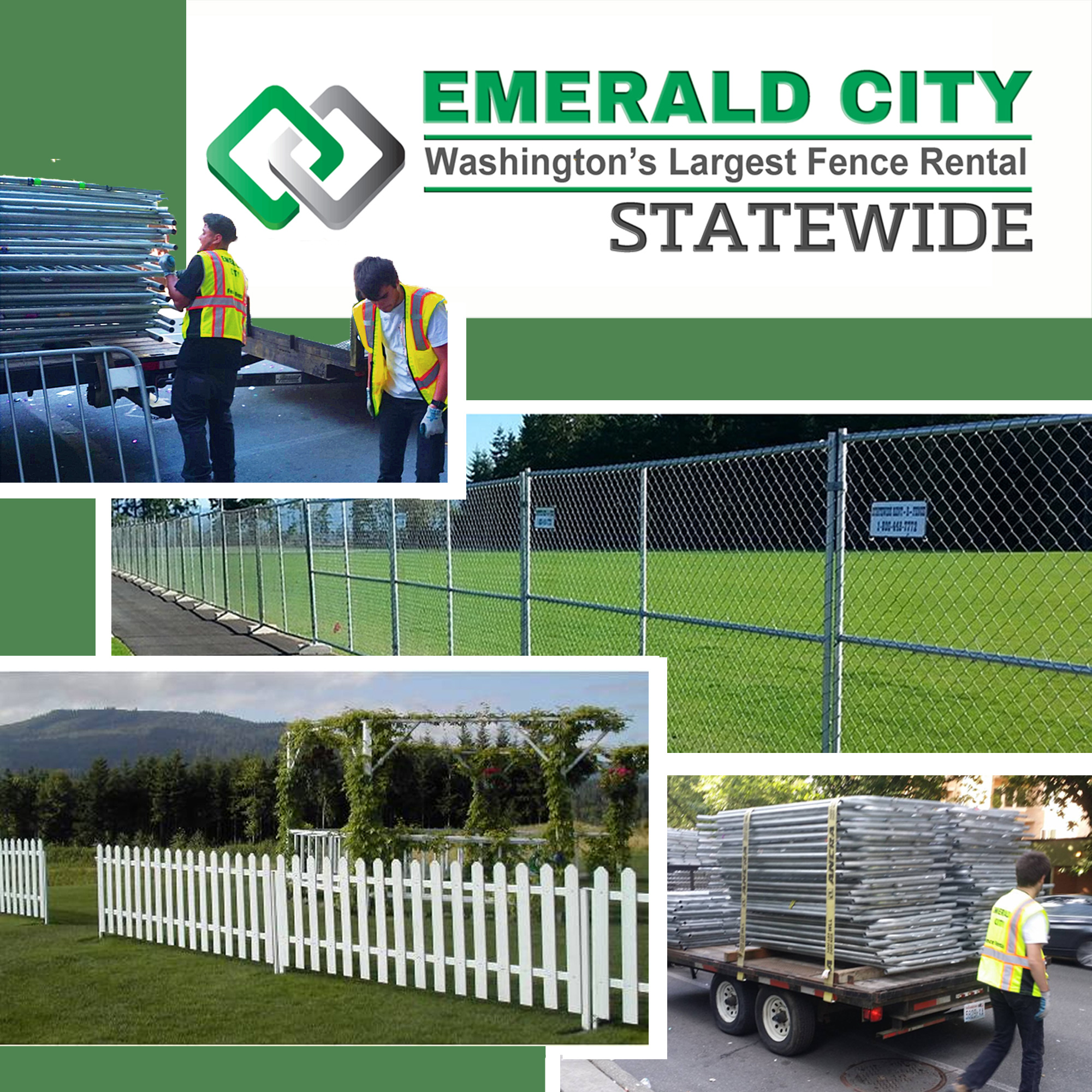 Emerald City Fence Rentals And Statewide Rent A Fence
