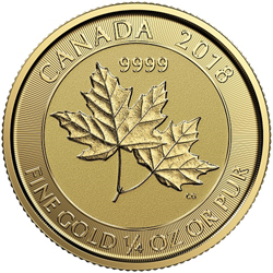 gold twin maples coin