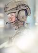 Revision's Batlskin Caiman™ Head System suite has been designed to incorporate additional technologies and capabilities, as shown here with the new SenSys ComCentr2 Tactical Headset System.