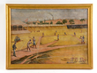Baseball Canvas Painting, estimated at $10,000-15,000.
