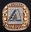 2001 Arizona Diamondbacks World Series Ring, estimated at $6,000-9,000.