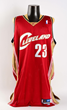 2003-04 Lebron James Rookie Game Used Cleveland Cavaliers Jersey, estimated at $6,000-9,000.