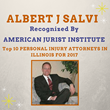 Salvi & Maher, LLC, Lawyer Albert Salvi Named Top 10 Personal Injury Attorney in Illinois