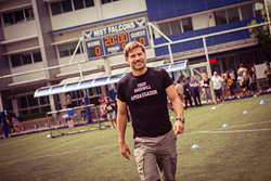 Nikolaj Coster-Waldau Walks onto the Field at the Global Goals World Cup Bangkok