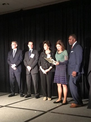 Fran Craig receiving award