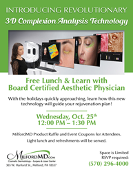 October 25th Lunch & Learn at MilfordMD Cosmetic Dermatology Surgery & Laser Center
