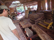 Marimba One owner Ron Samuels inspects Rosewood
