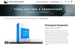 ProLayout Corporate - Final Cut Plugins - PFS Effects