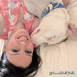 Hunger Strike - Breast Cancer Survivor and Pit Bull Join Forces To Raise Awareness