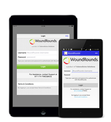 Woundrounds mobile devices