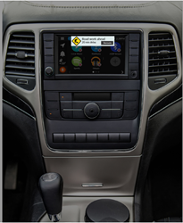 VLine Infotainment System in the vehicle