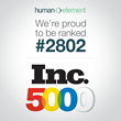 Human Element Awarded Position on Prestigious Inc. 5000 List