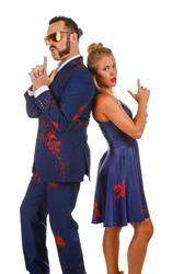 Navy Blue Halloween Suit And Halloween Dress