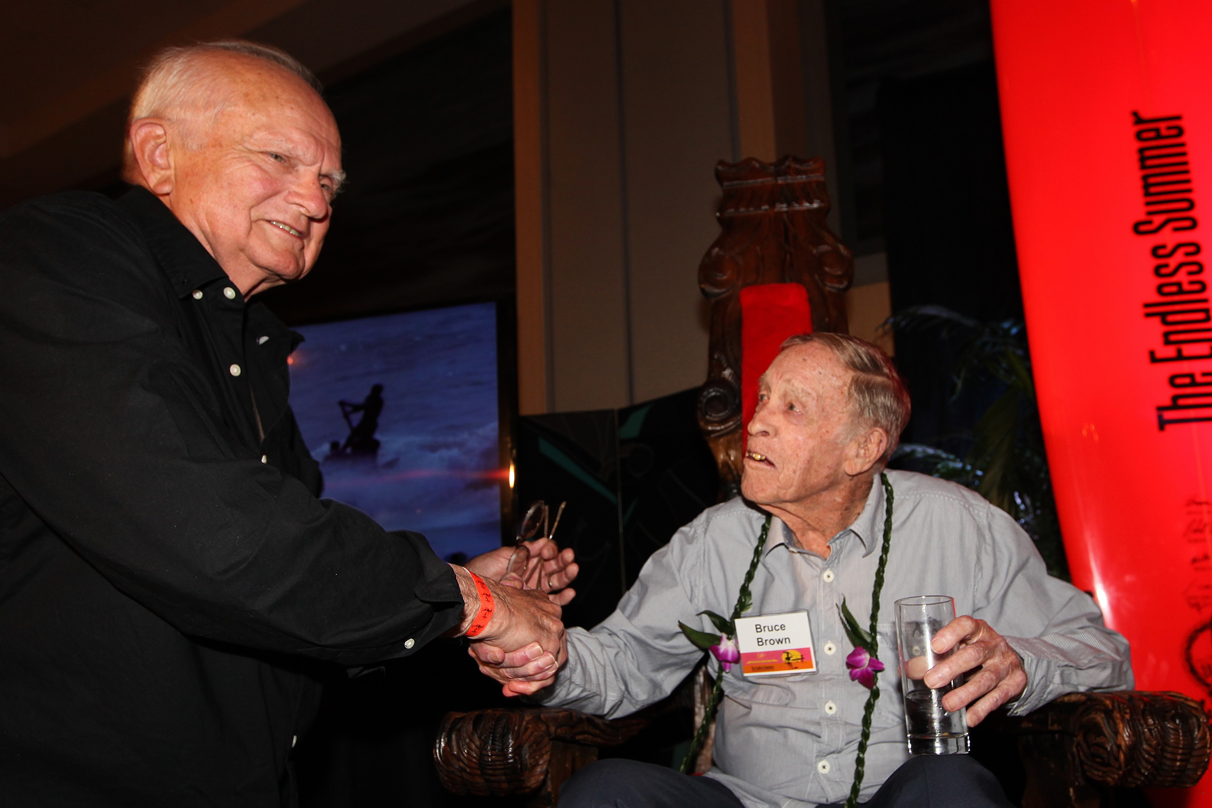 Larry Lindberg Producer For ABC Wild World Of Sports With Bruce Brown At The First Launch Endless Summer Book And Box Set