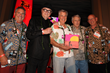 Jay Fox co-pubilisher, John Van Hamersveld, Paul Allen, Bob Bagley and Bruce Chambers co-publisher and printer of the The Endless Summer Book and Box Set at the first launch in Huntington Beach, CA.