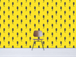 Look's Silent Sea Horse wallcovering in yellow