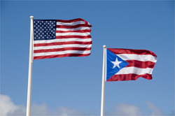 Puerto Rican and American Flag