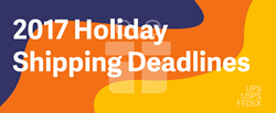 2017 Holiday Shipping Deadlines Infographic