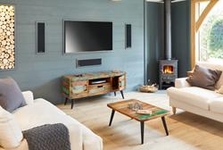 Living Room Setting Using Bonsoni Sandy Baudouin Range Furniture