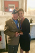 Woody Williams presents MISS AMERICA 2000, Heather French Henry with Honorary Board Member Medallion