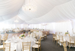 A seasonal white tented pavilion is one of The Landing Resort & Spa's beautiful options for weddings, receptions and events at the Lake Tahoe boutique hotel with skilled staff and luxurious amenities.