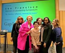 Hope Scott, Adrienne Seal and other female leaders at a Women in Leadership Symposium