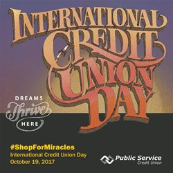 #ShopForMiracles on International Credit Union Day, Oct. 19, 2017