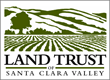 Green and black logo of Land Trust of Santa Clara Valley
