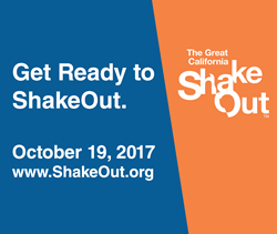 The Great California ShakeOut takes place this Thursday at 10:19 a.m. Learn more at www.ShakeOut.org.