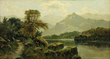 David Johnson, Hudson River Scene, Oil on Canvas