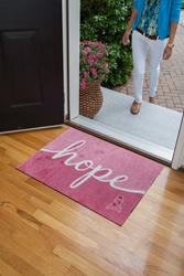Pink Ribbon Welcome Mat from Carpet One