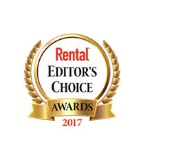 Rental magazine's Editor's Choice Awards