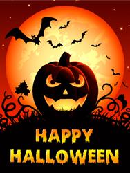 Spooky Smile Halloween Pumpkin Card