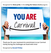 Carnival Launches Employee Recognition Program on Maritz Motivation Solutions CultureNext® Platform