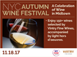New York Wine Events, Manhattan wine tasting, Manhattan wine and food festival, New York City wine tasting, NYC wine tasting, NYC wine event