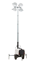 30' Self-Contained Telescoping Light Tower