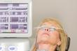 Woman receives LipiFlow treatment