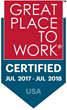 Brandify Nationally Certified as a 2017 Great Place to Work