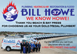 Bill Howe Named Gold Medal Plumber in La Jolla Village News Reader's Poll