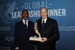 Former United Nations Secretary-General and current United Nations Foundation board member Kofi Annan and His Highness the Aga Khan at the 2017 Global Leadership Dinner